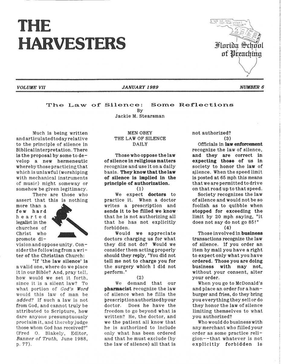Harvester 1989 - Jan