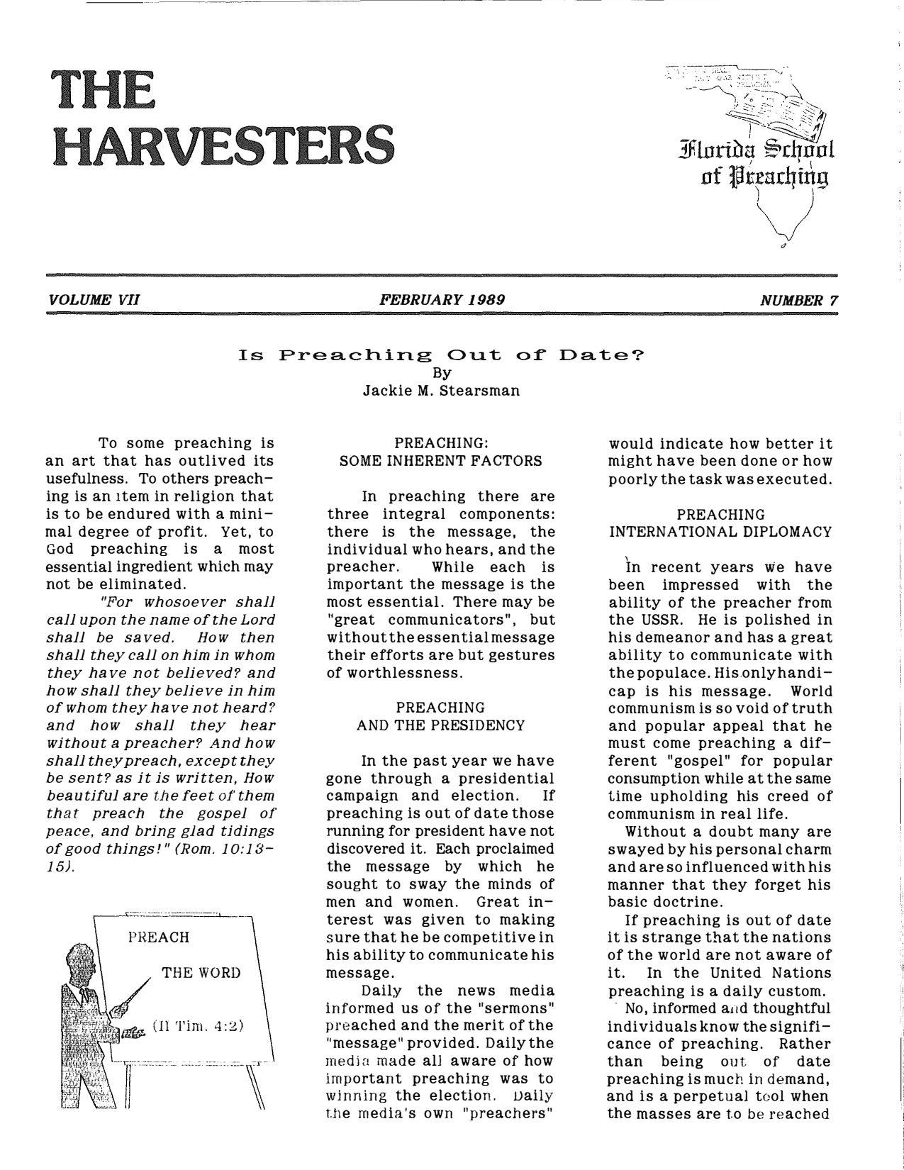 Harvester 1989 - Feb