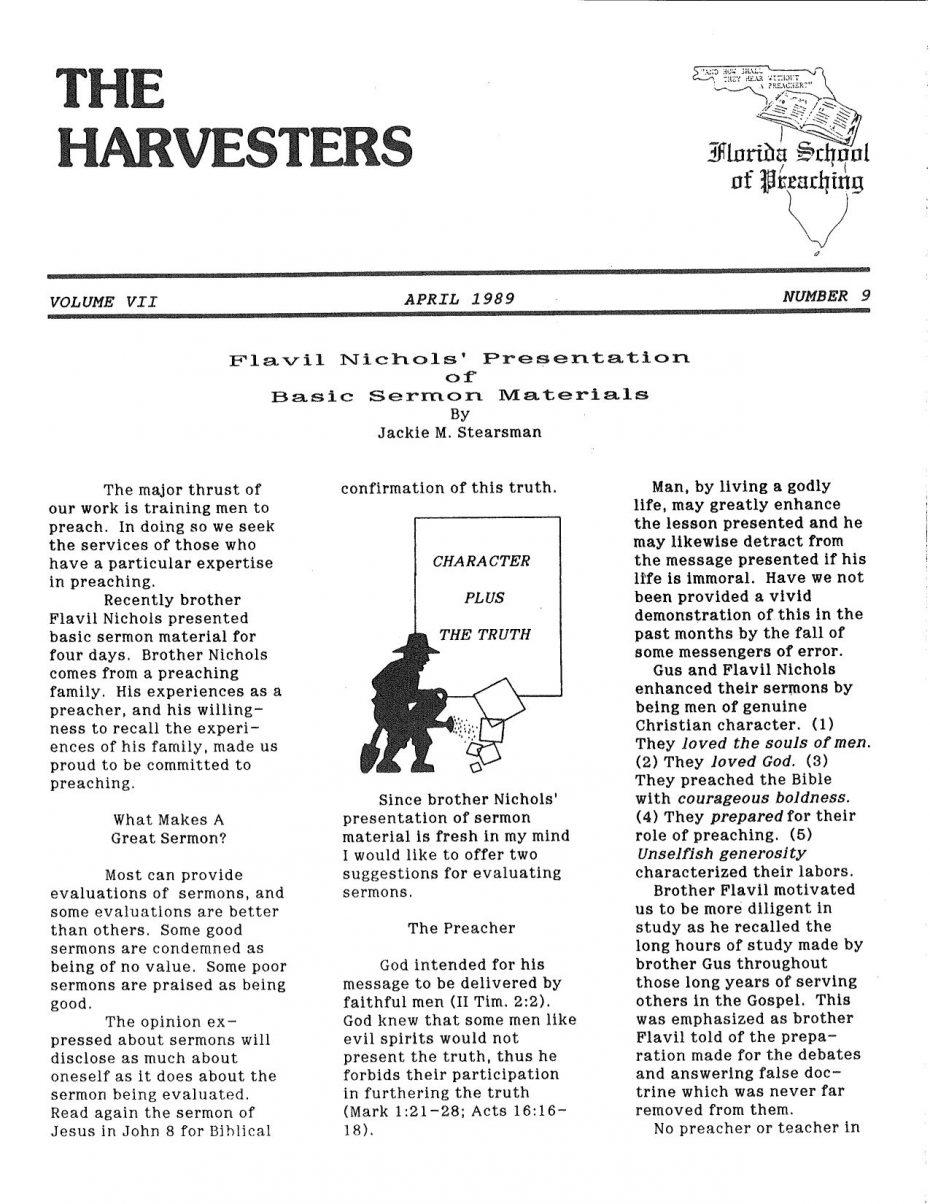 Harvester 1989 - Apr