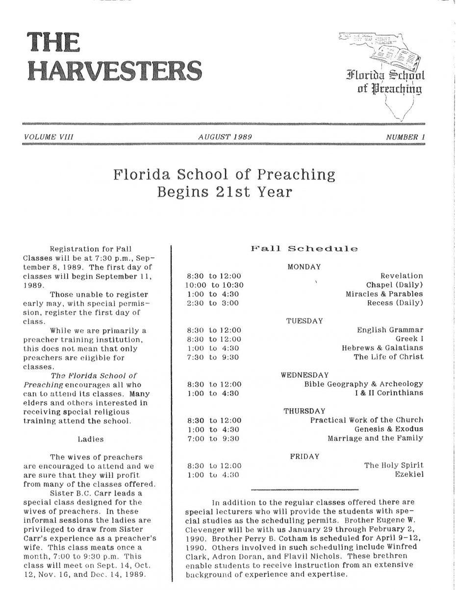 Harvester 1989 - Aug.