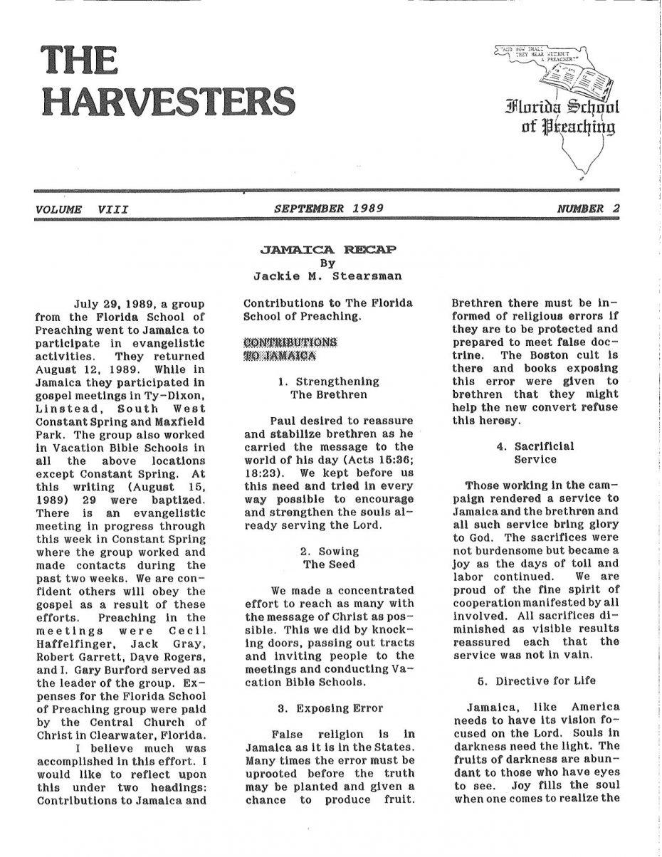 Harvester 1989 - Sept.