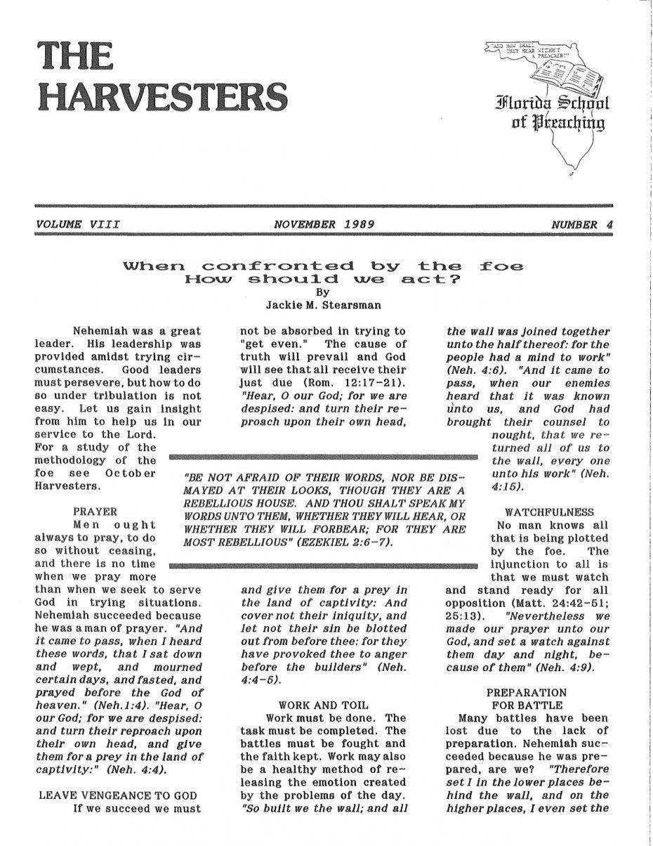 Harvester 1989 - Nov.