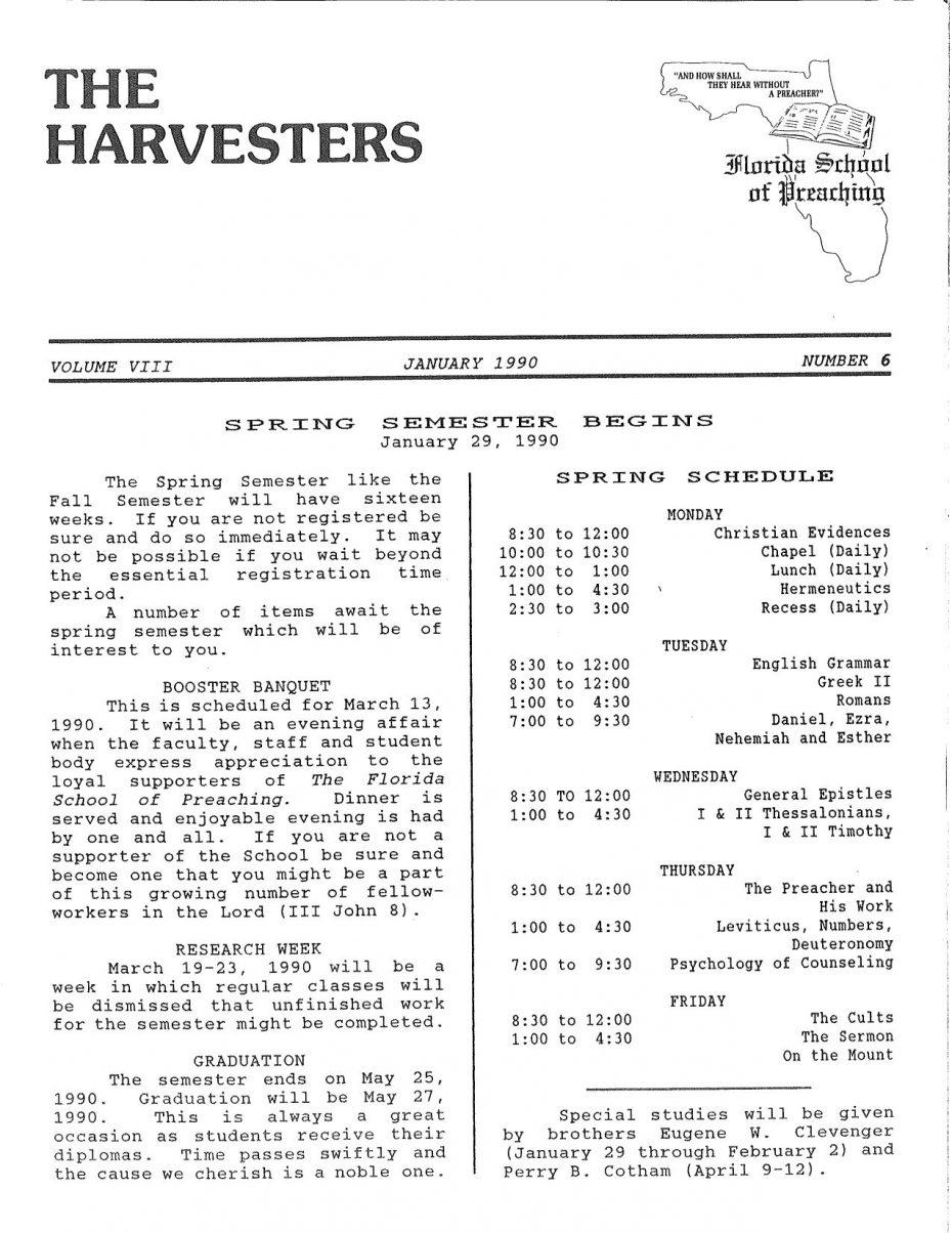 Harvester 1990 - Jan.