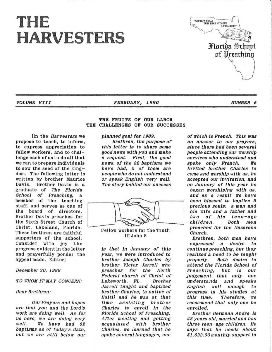 Harvester 1990 - Feb.