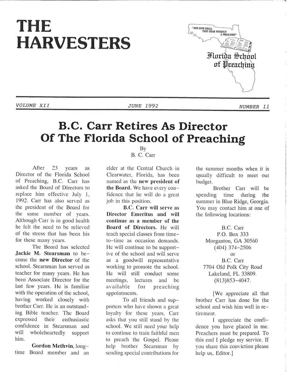 Harvester 1992 - June