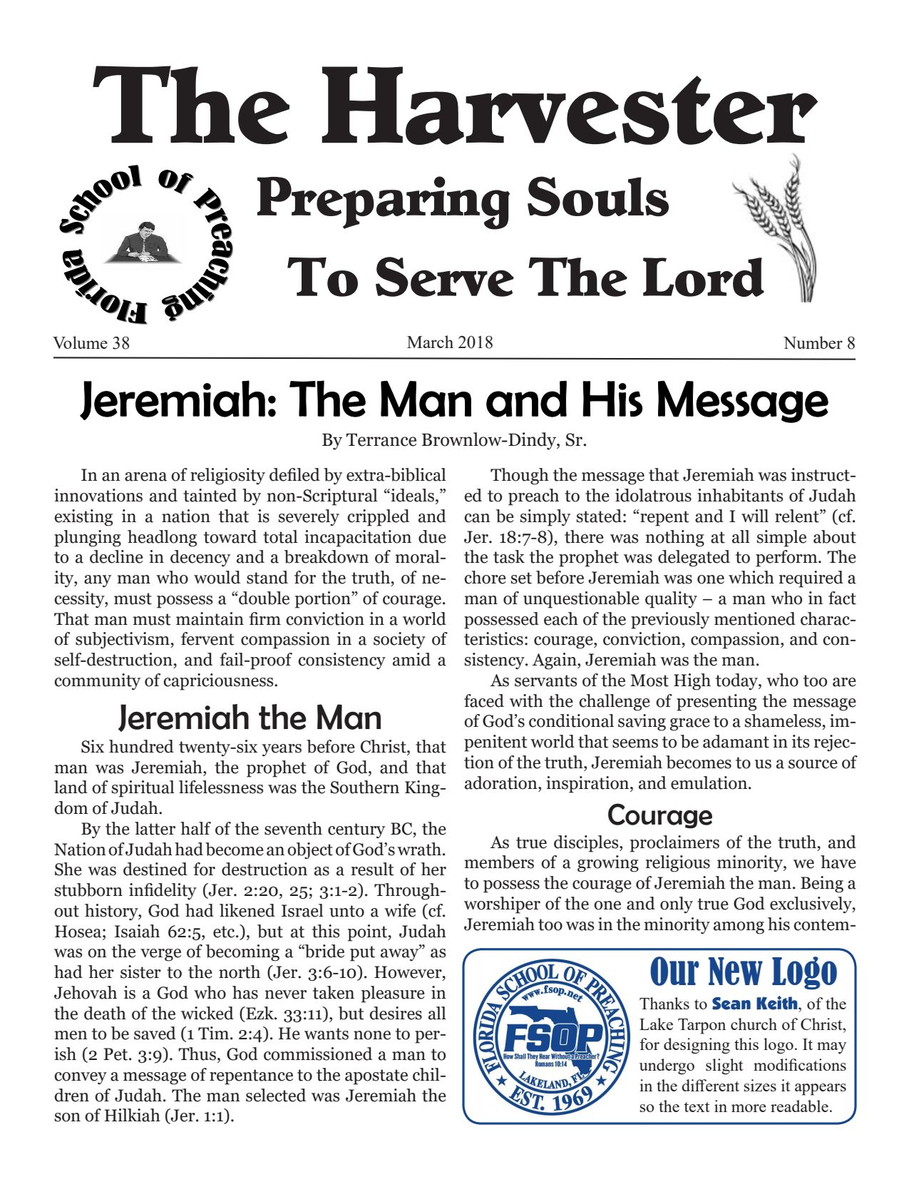 """Featured image for """"Harvester March 2018: Jeremiah: The Man and His Message"""""""