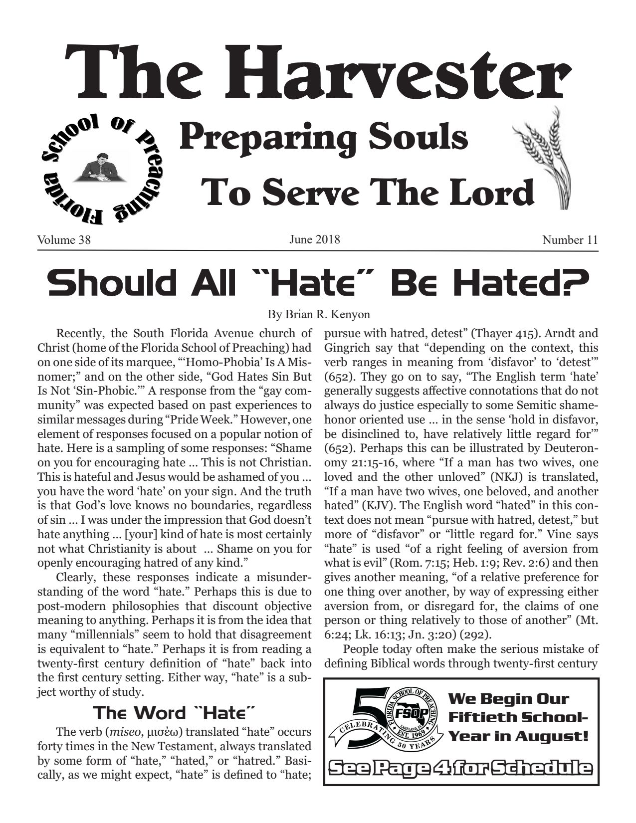 """Featured image for """"Harvester June 2018: Should All """"Hate"""" Be Hated?"""""""