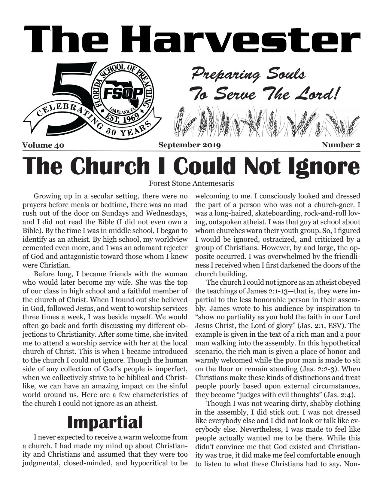 """Featured image for """"Harvester September 2019: The Church I Could Not Ignore"""""""