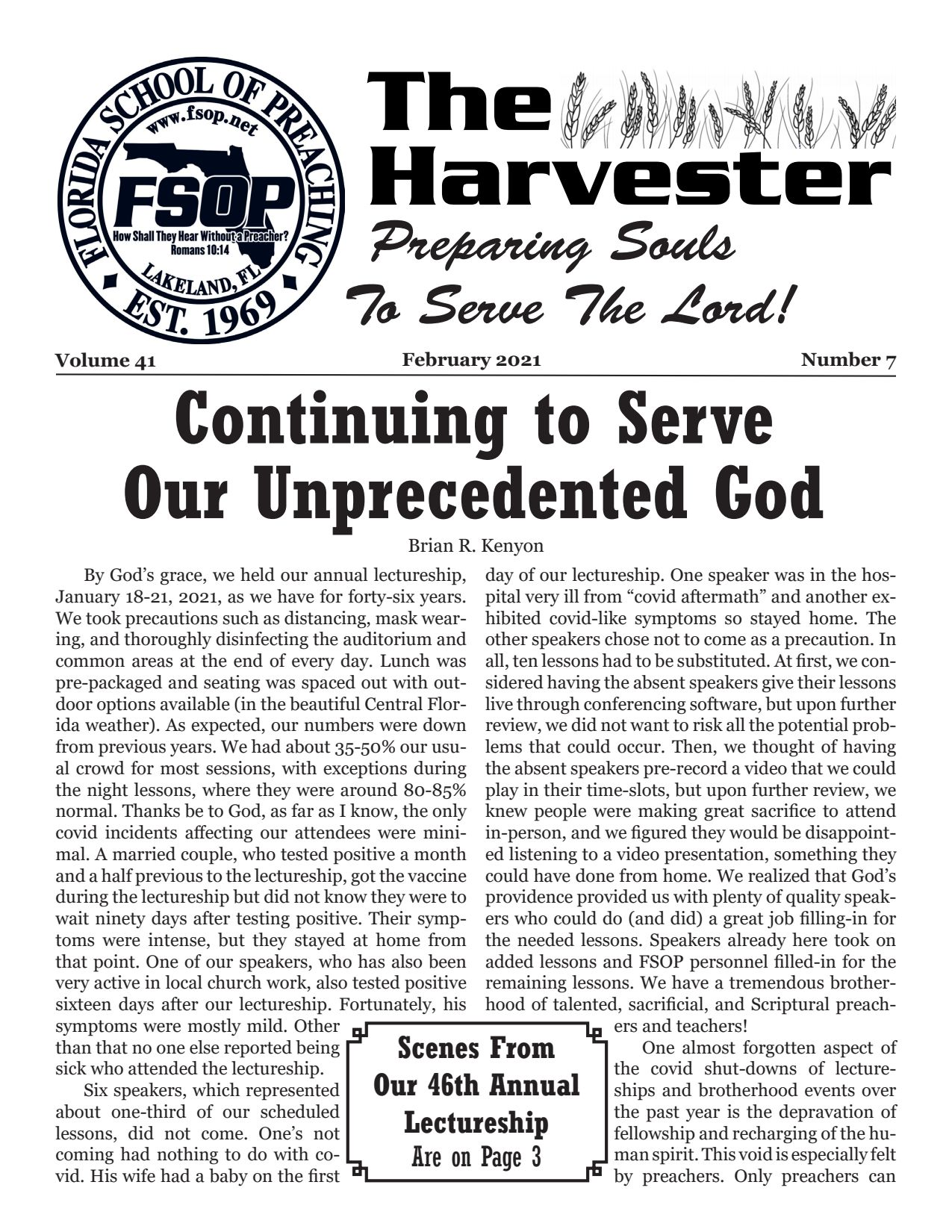 "Featured image for ""Harvester Feb 2021: Continuing to Serve Our Unprecedented God"""