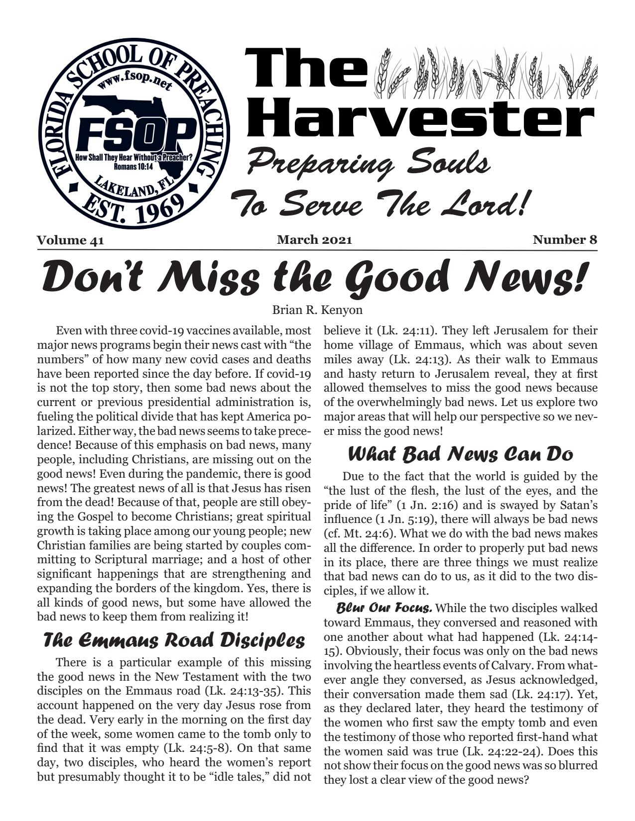 "Featured image for ""Harvester March 2021: Don't Miss the Good News!"""