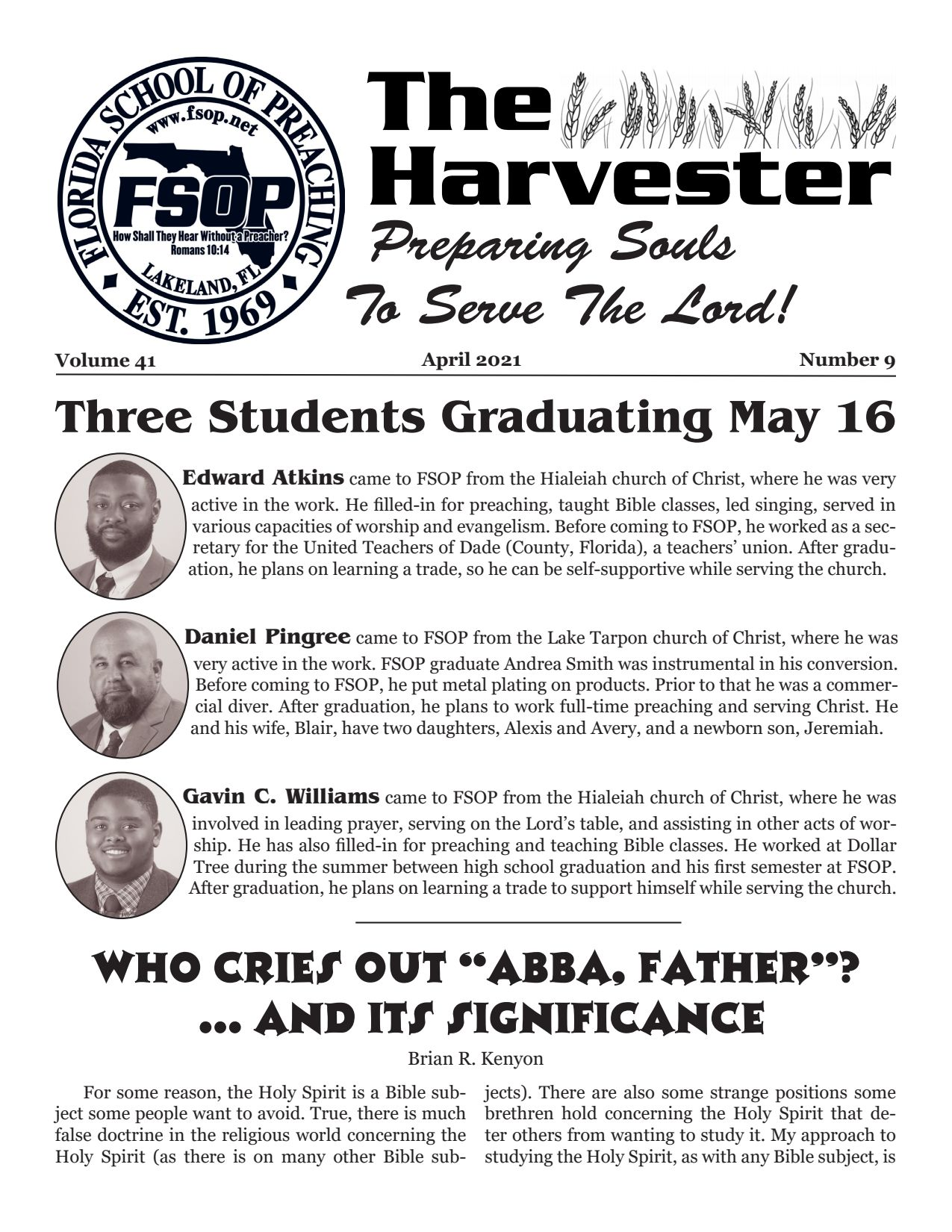 "Featured image for ""Harvester April 2021: Three Students Graduating May 16"""