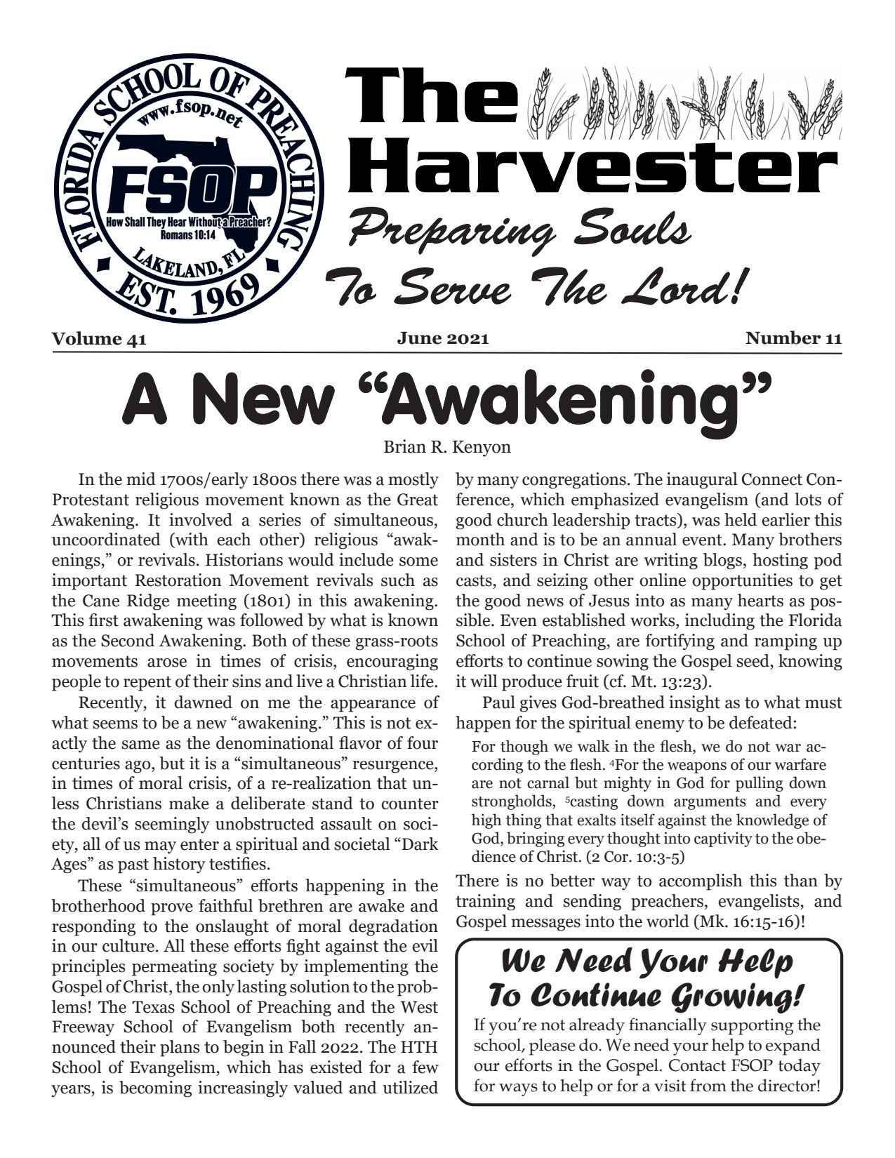 """Featured image for """"Harvester June 2021: The New """"""""Awakening"""""""""""""""
