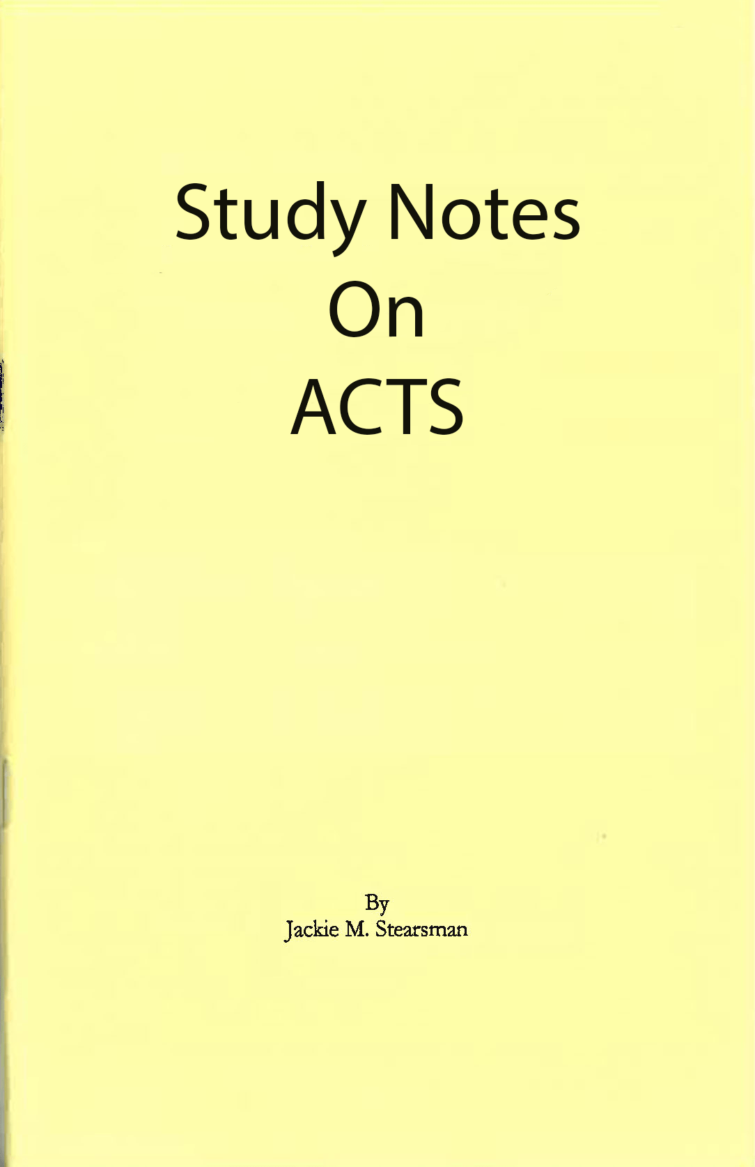 "Featured image for ""Study Notes on Acts"""