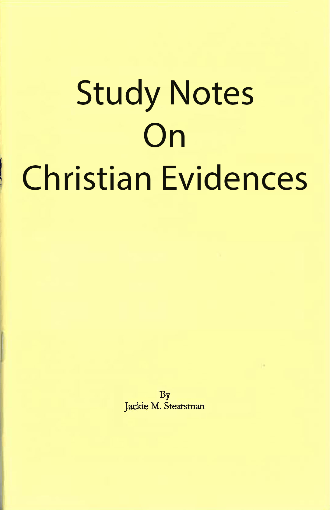 """Featured image for """"Study Notes on Christian Evidences"""""""