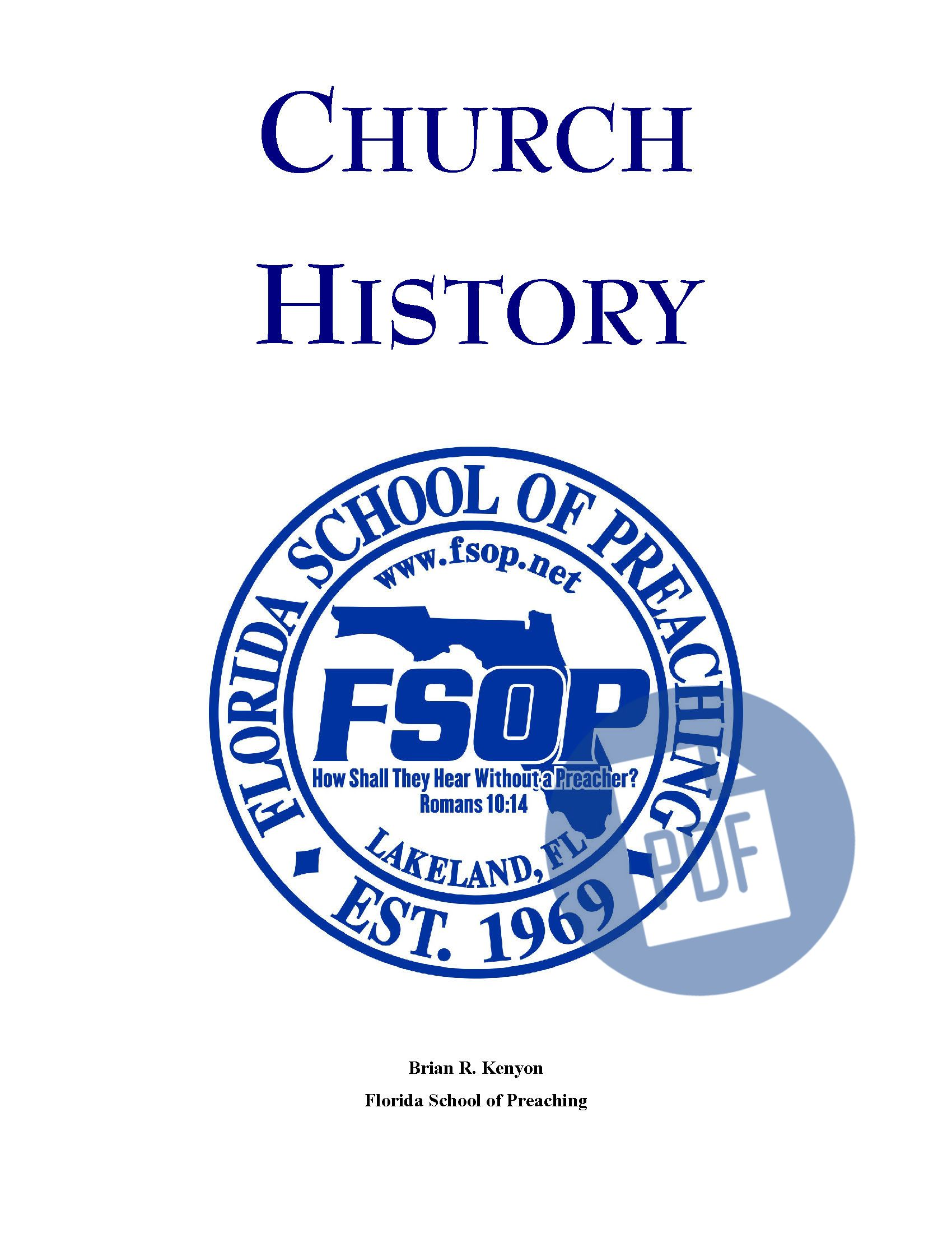 """Featured image for """"Church History - PDF"""""""