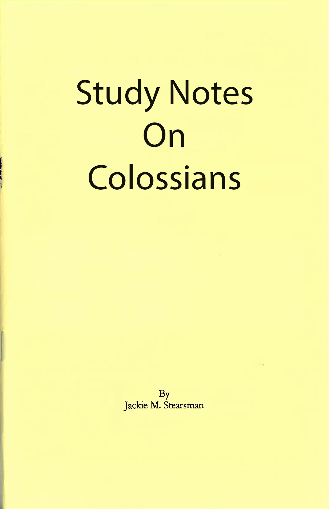 "Featured image for ""Study Notes on Colossians"""