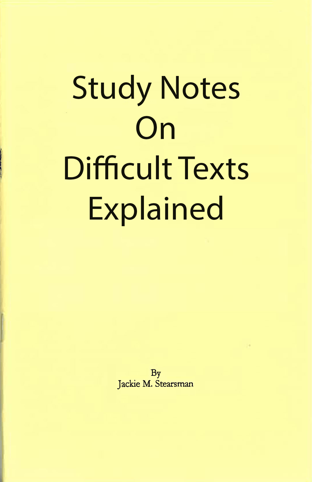 "Featured image for ""Difficult Texts Explained"""