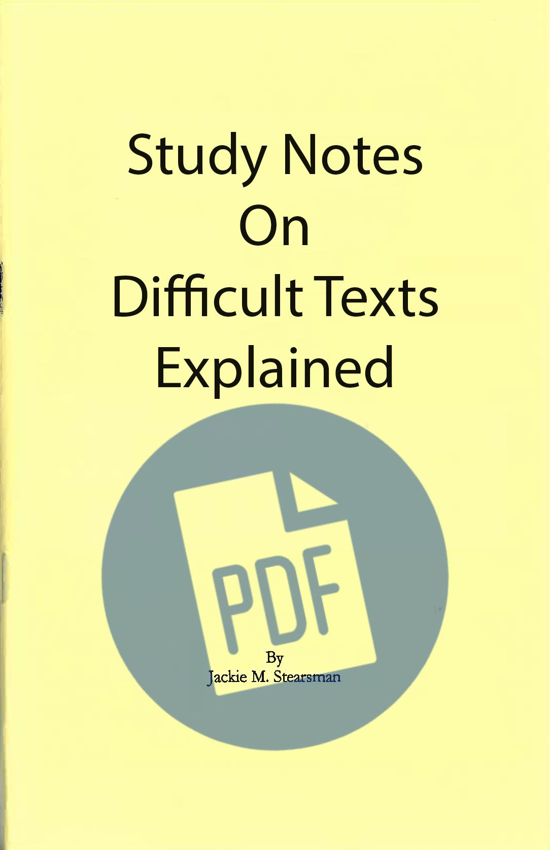 "Featured image for ""Difficult Texts Explained  - PDF"""