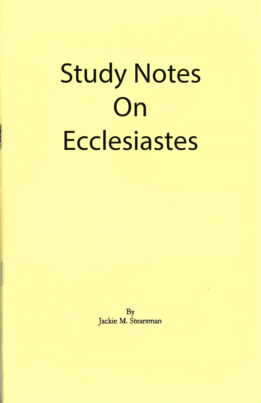 "Featured image for ""Study Notes on Ecclesiastes"""