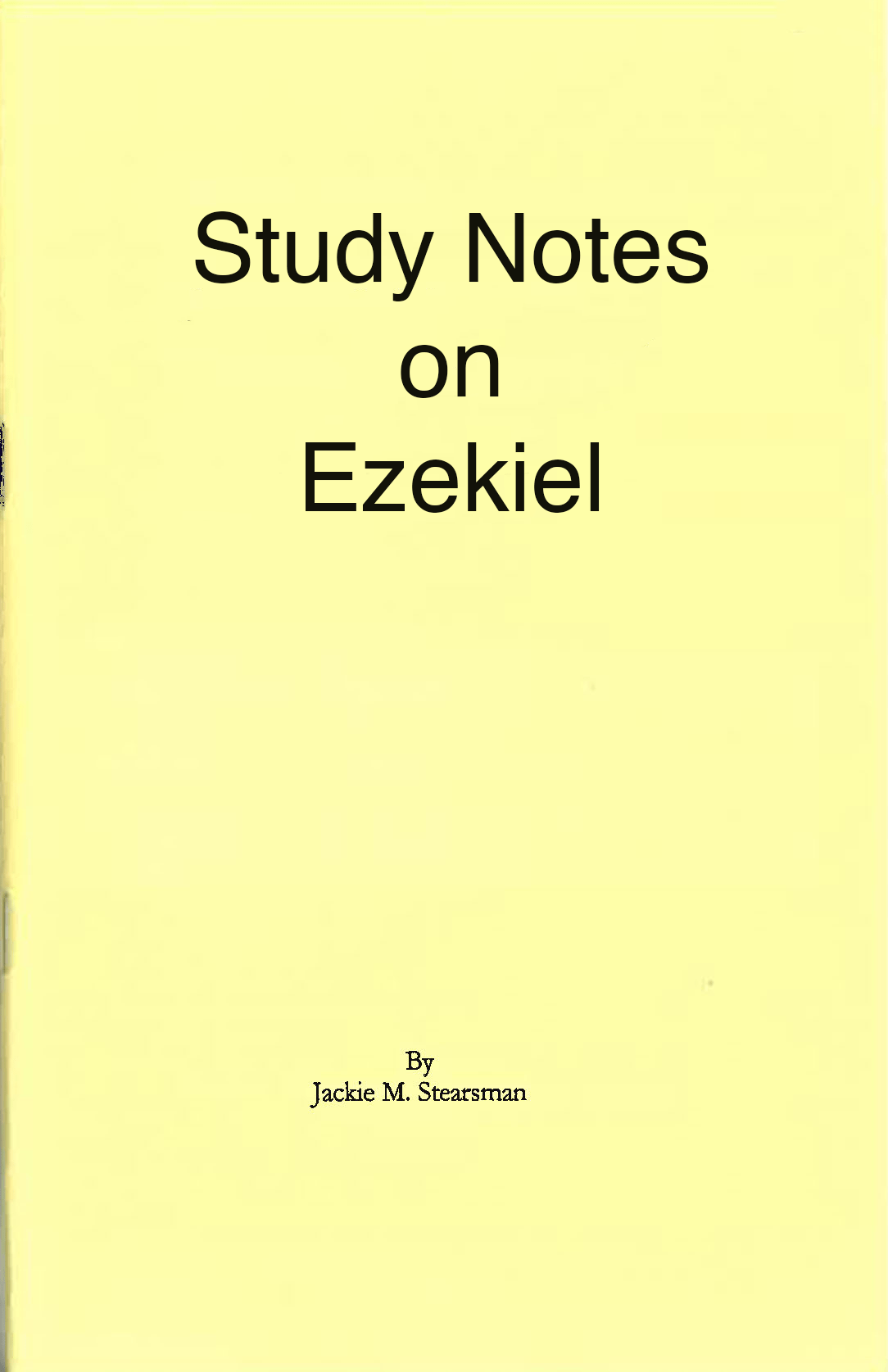 "Featured image for ""Study Notes on Ezekiel (Revised)"""
