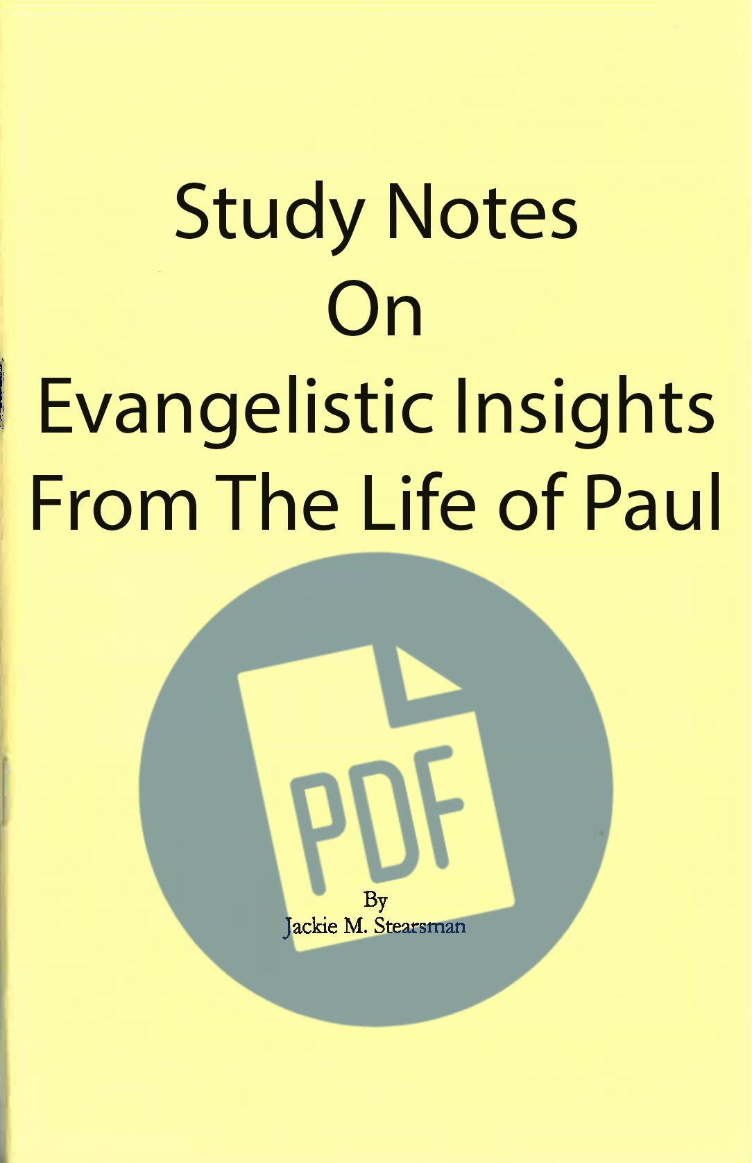 "Featured image for ""Evangelistic Insights from Life of Paul  - PDF"""