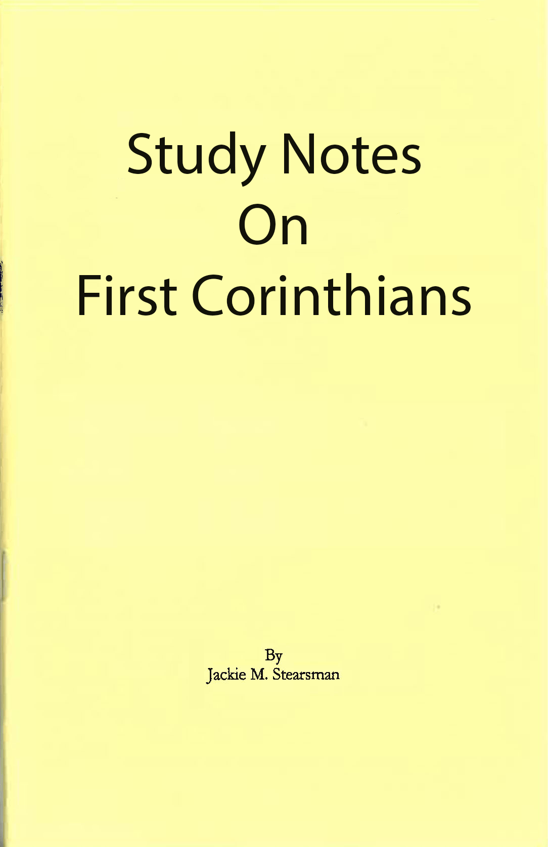 """Featured image for """"Study Notes on First Corinthians"""""""