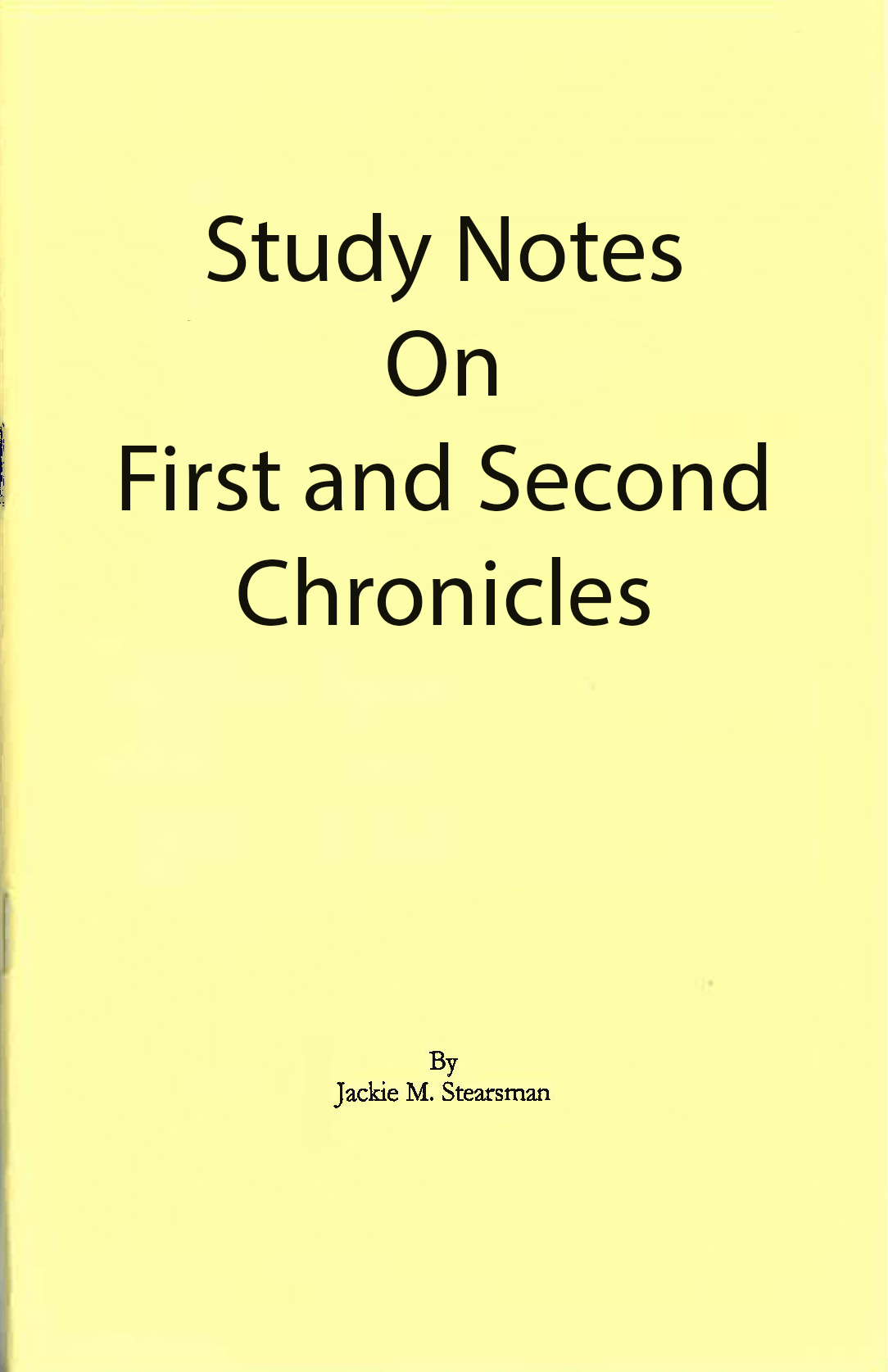"Featured image for ""Study Notes on First and Second Chronicles"""