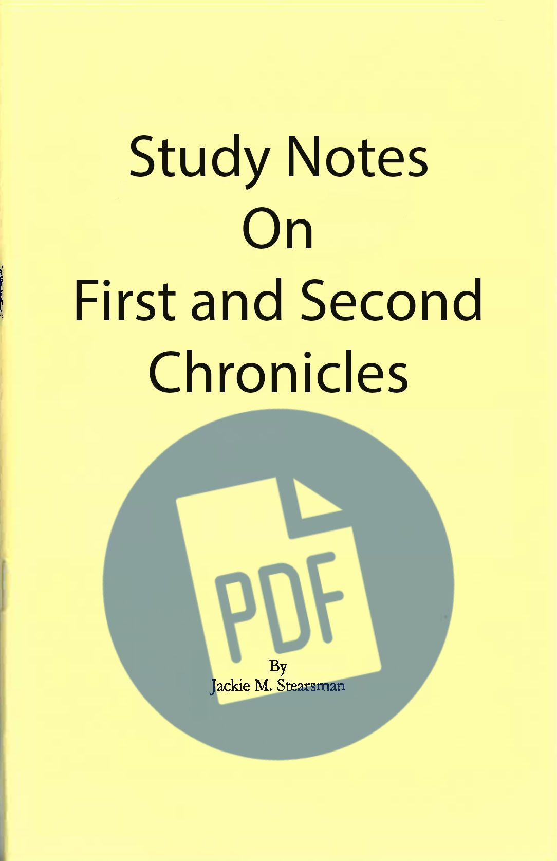 """Featured image for """"Study Notes on First and Second Chronicles – PDF"""""""