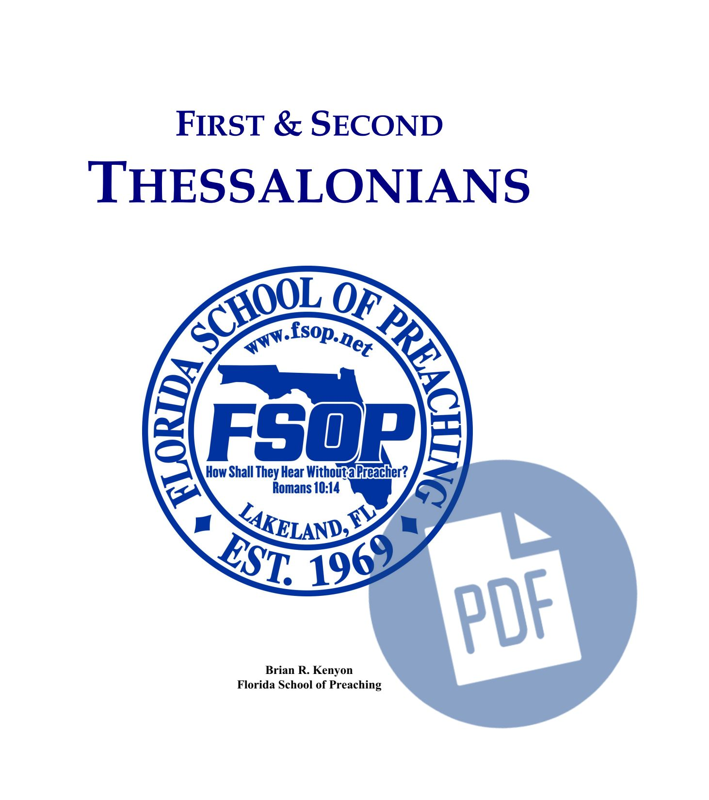 """Featured image for """"1st and 2nd Thessalonians - PDF"""""""
