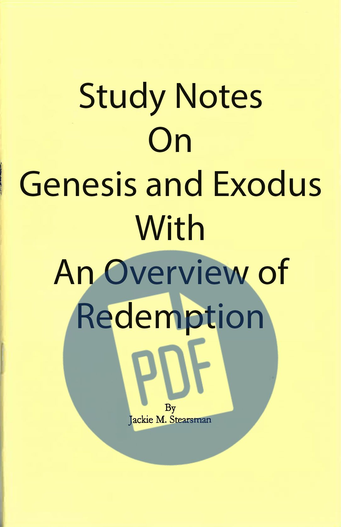 """Featured image for """"Study Notes on Genesis-Exodus – PDF"""""""