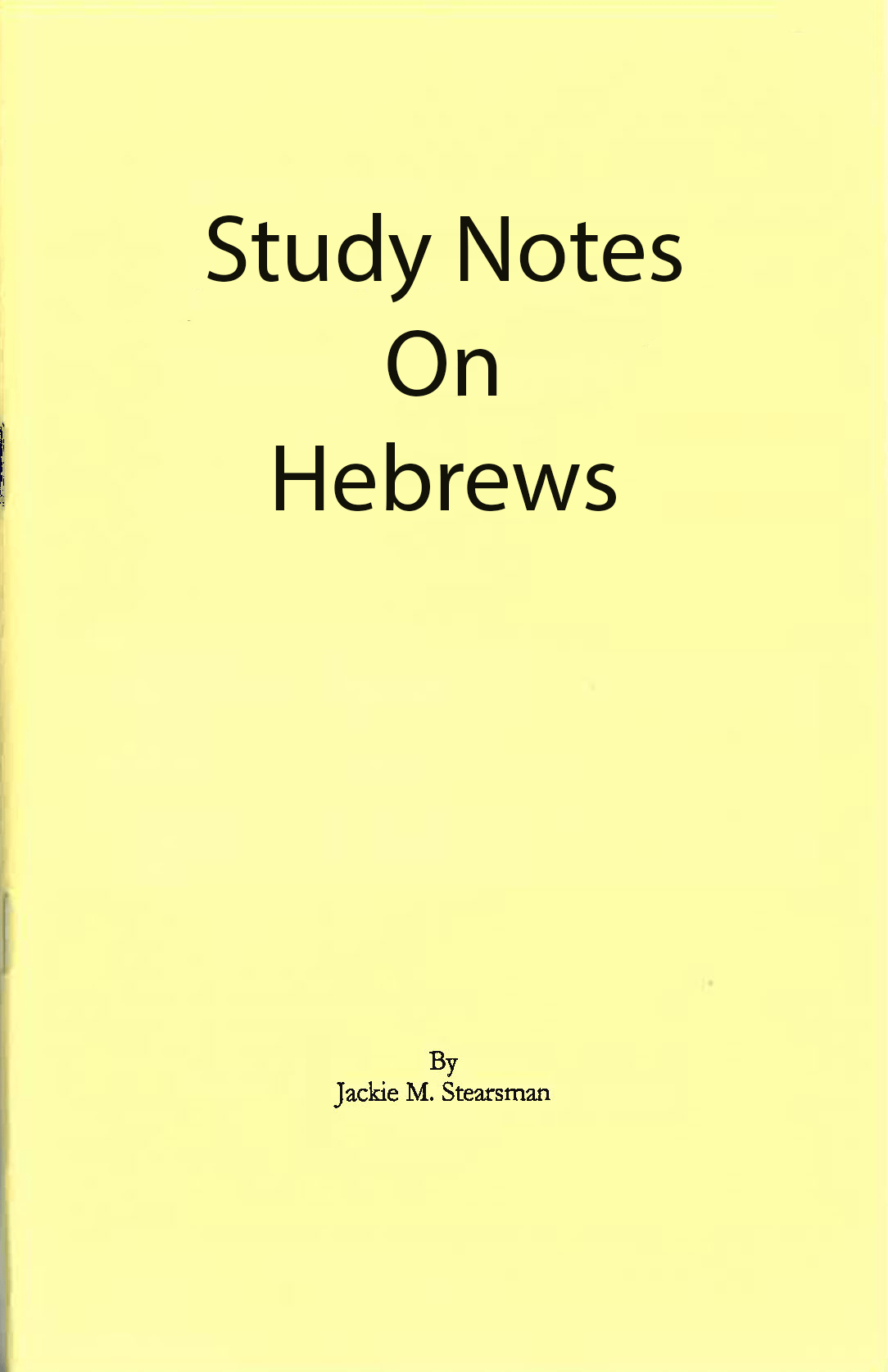 "Featured image for ""Study Notes on Hebrews"""