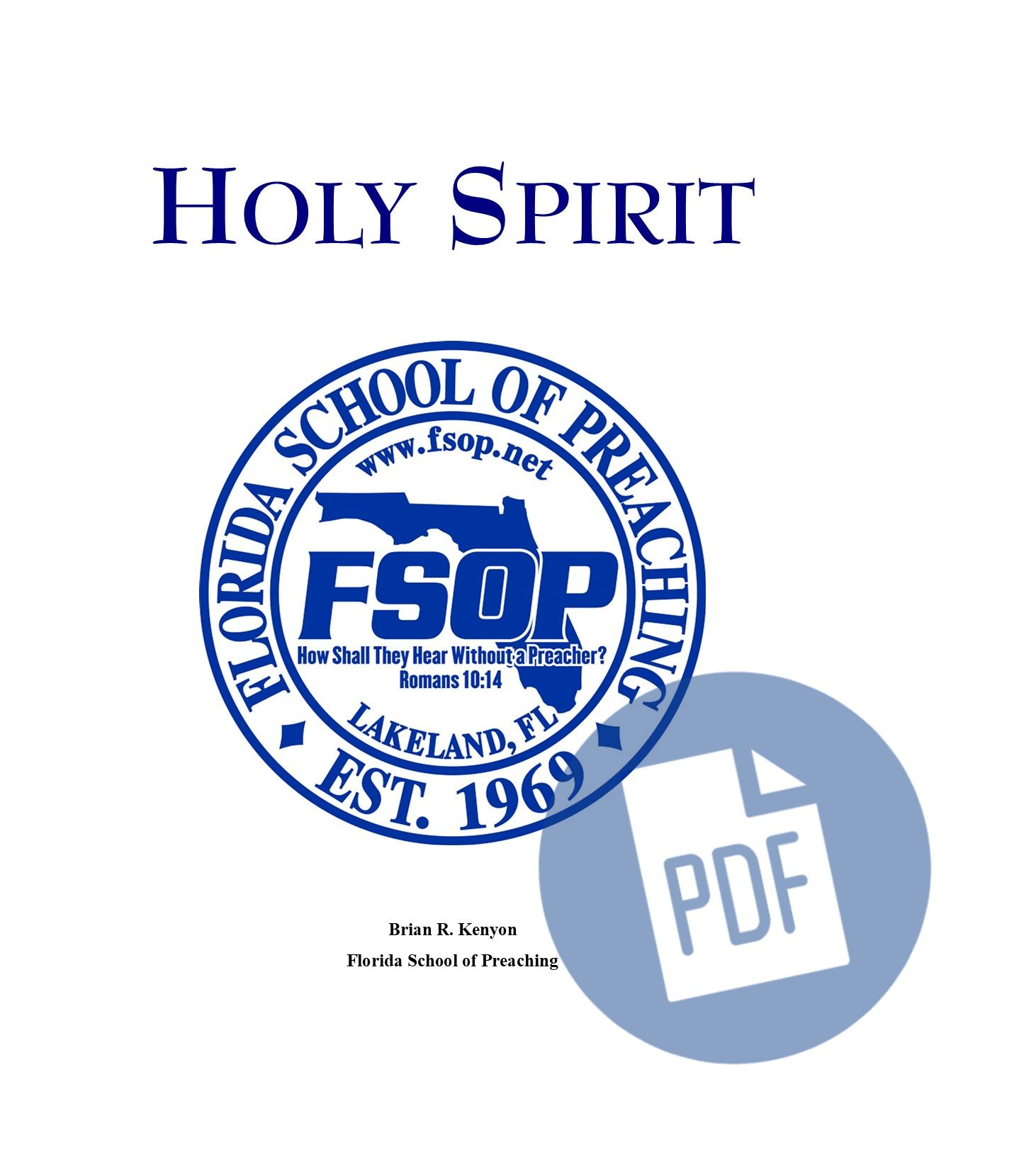 """Featured image for """"The Holy Spirit - PDF"""""""