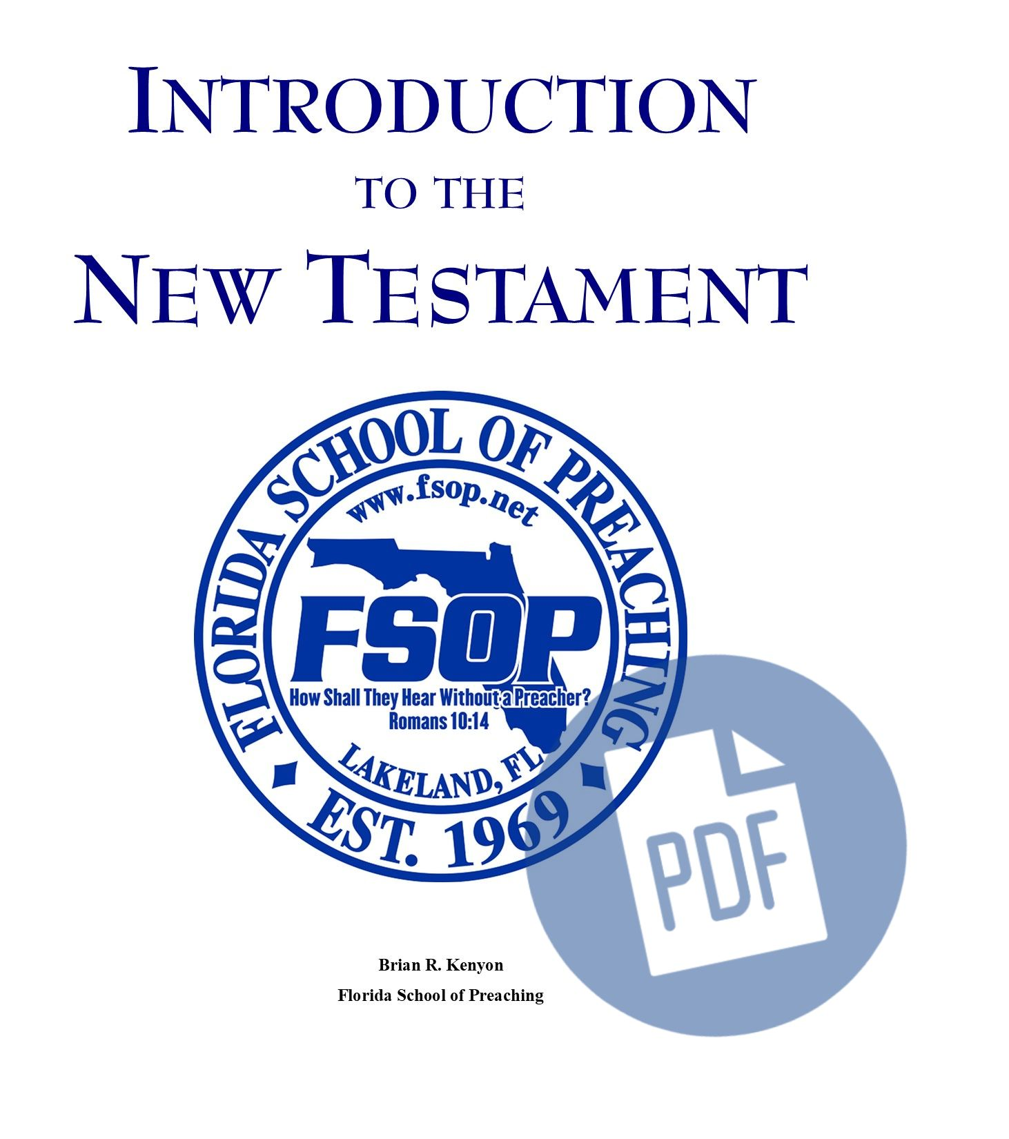 """Featured image for """"Introduction to New Testament – PDF"""""""
