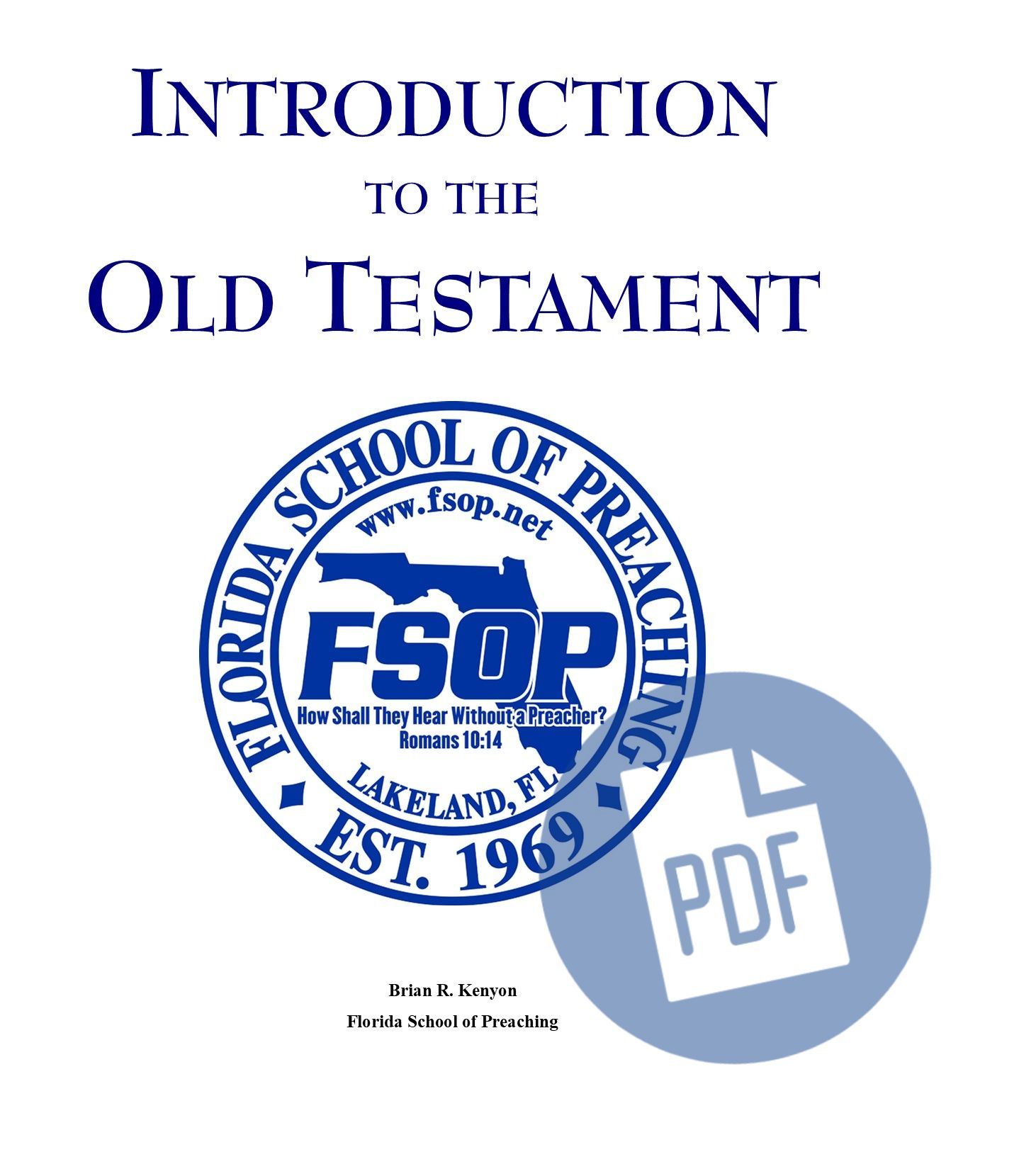 """Featured image for """"Introduction to Old Testament - PDF"""""""