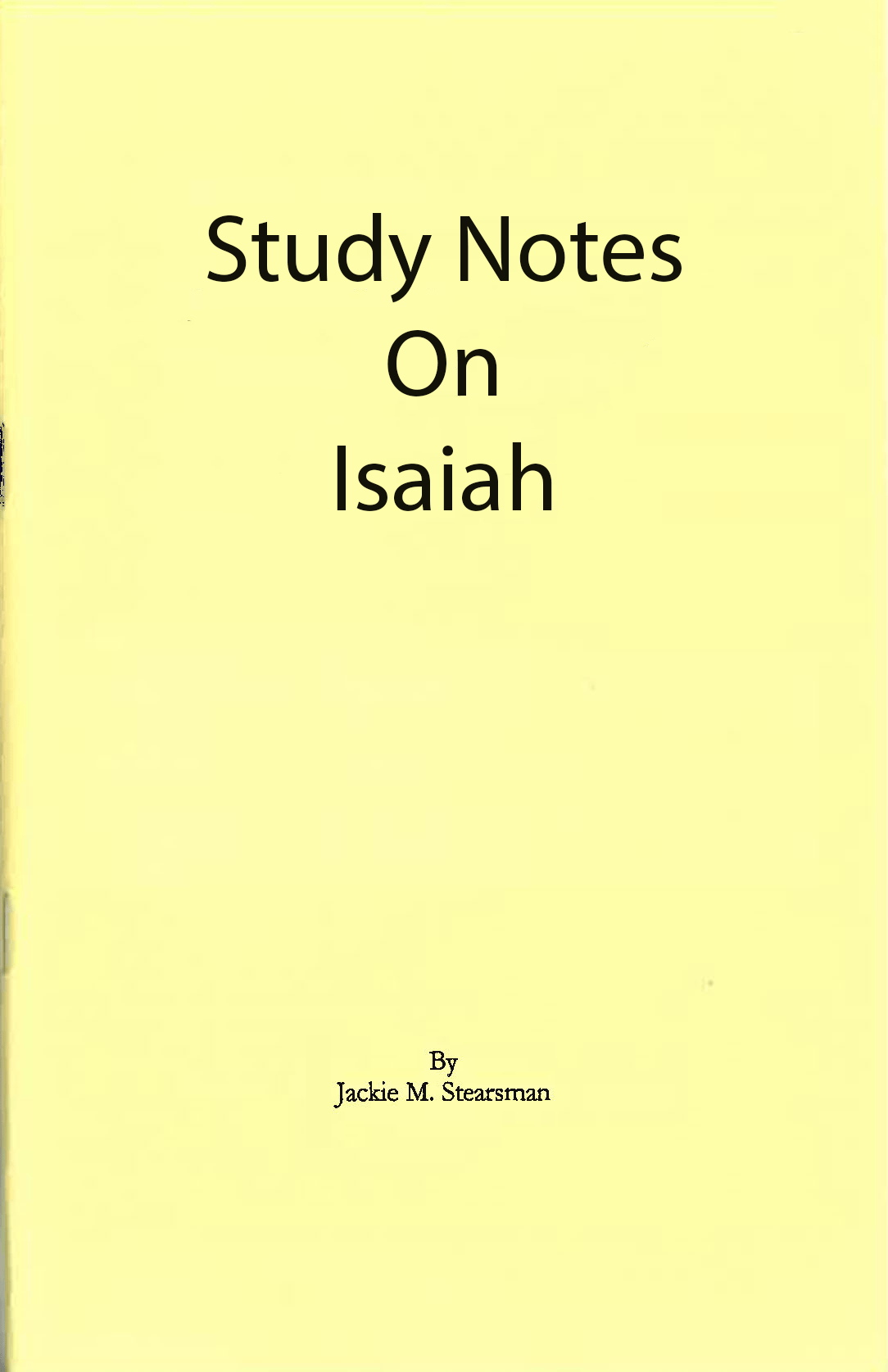 "Featured image for ""Study Notes on Isaiah"""