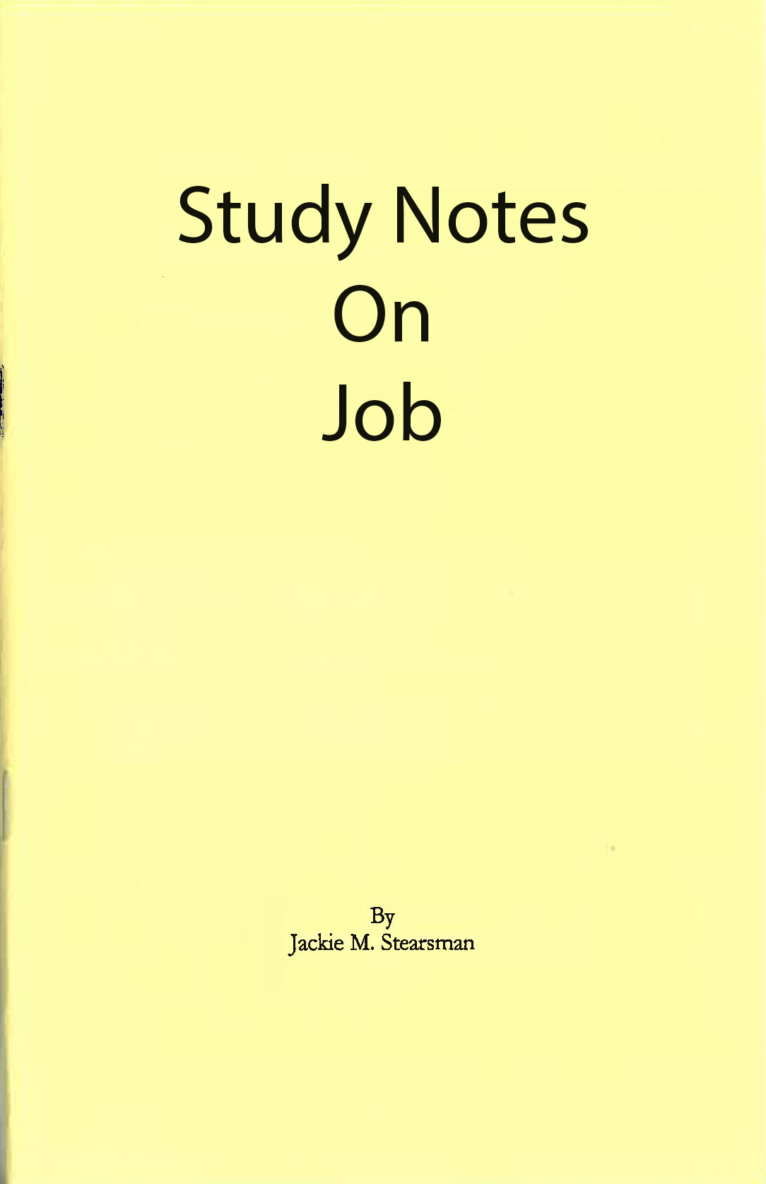 """Featured image for """"Study Notes on Job"""""""
