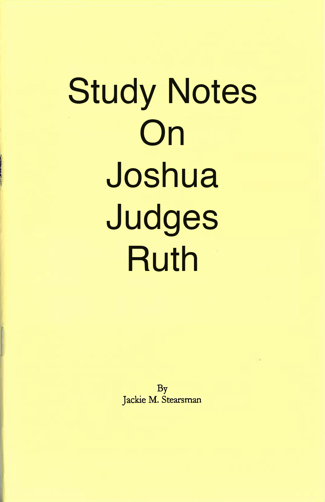 "Featured image for ""Study Notes on Joshua and Ruth"""