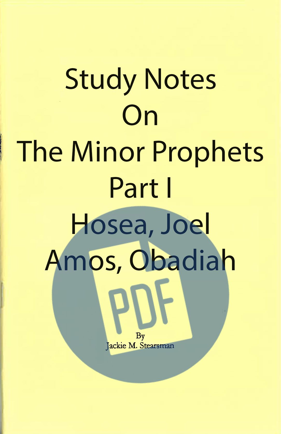 """Featured image for """"Study Notes on Minor Prophets I – PDF"""""""