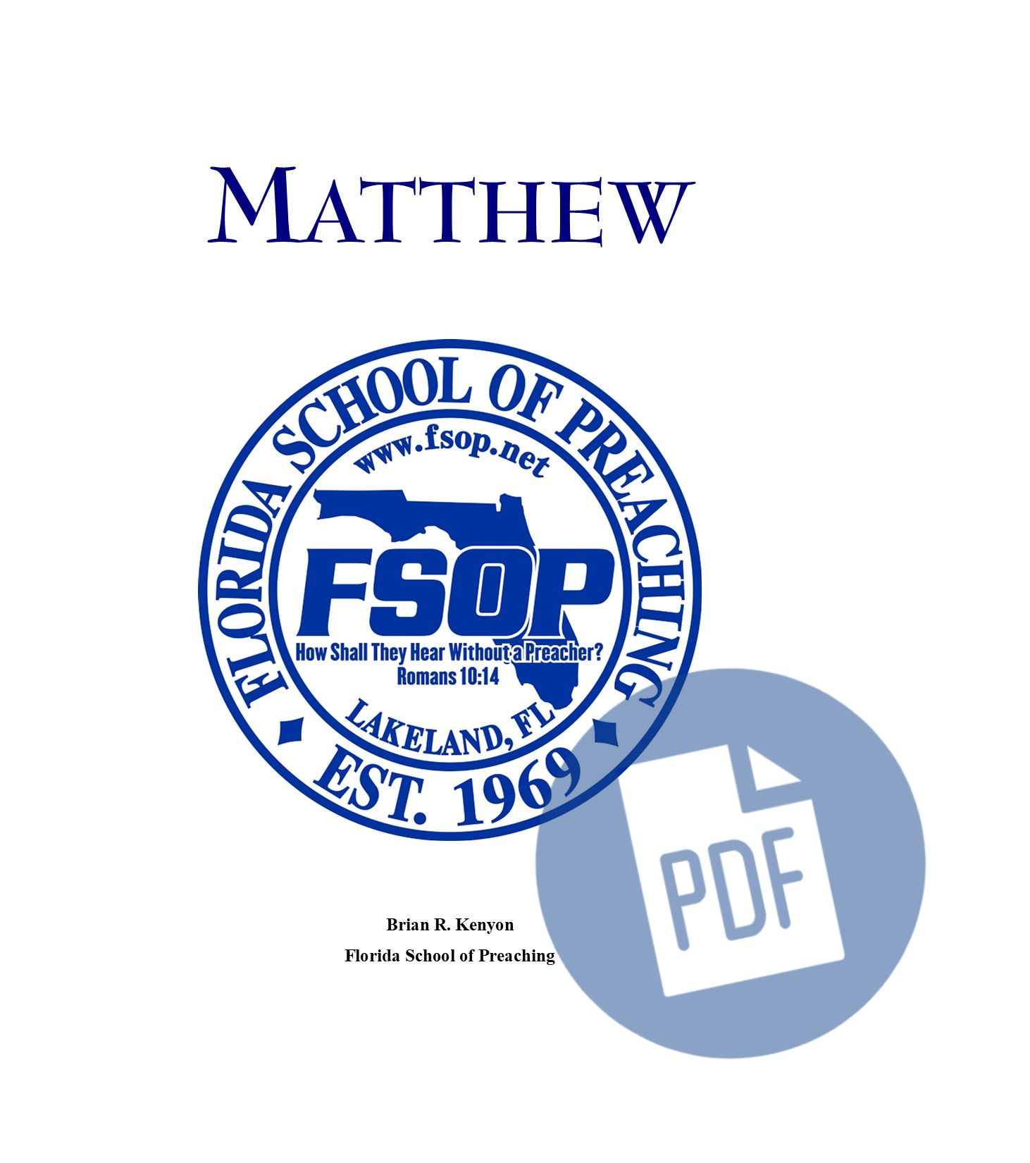 """Featured image for """"Matthew - PDF"""""""
