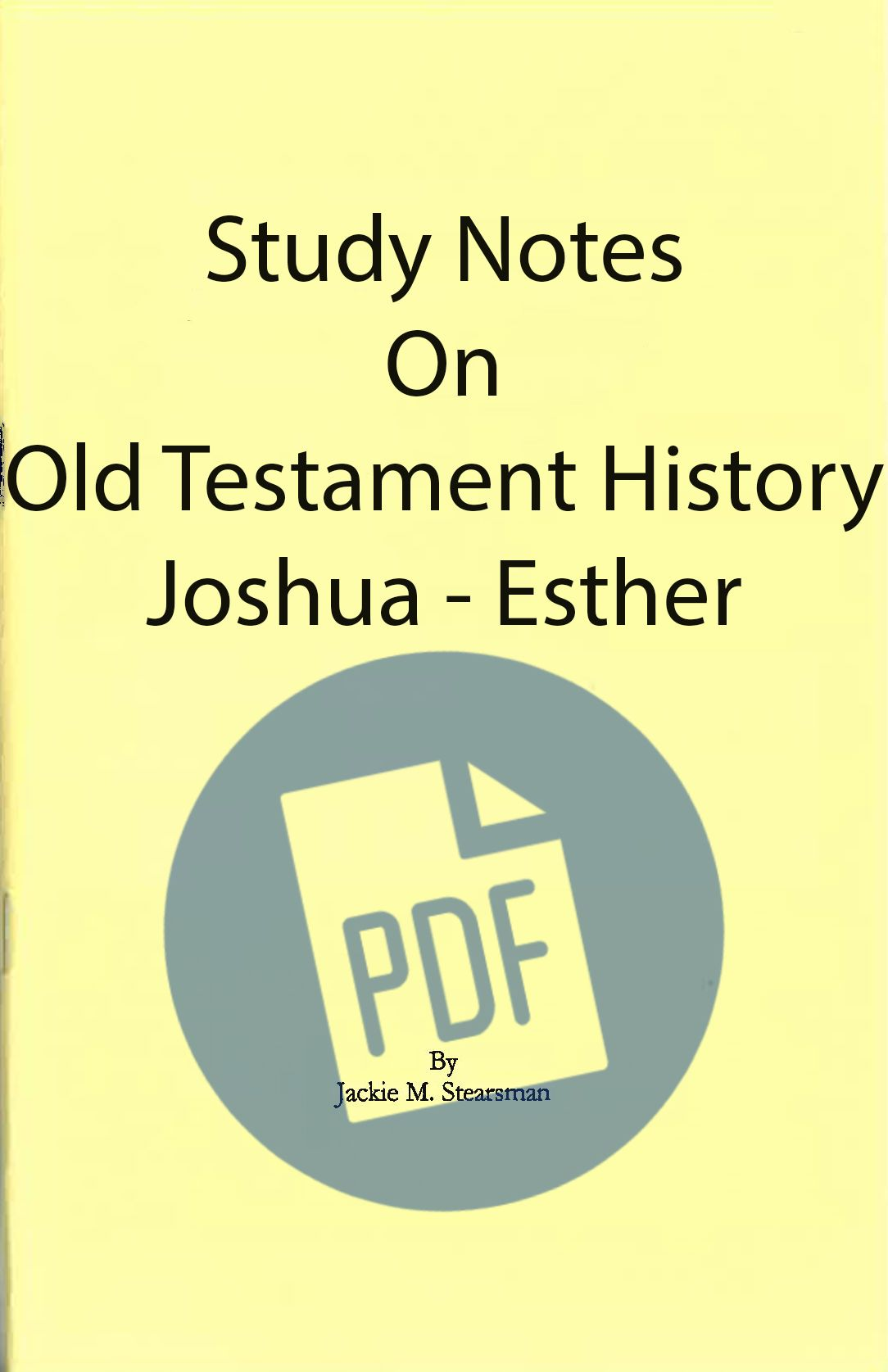 "Featured image for ""Study Notes on Old Testament History – PDF"""