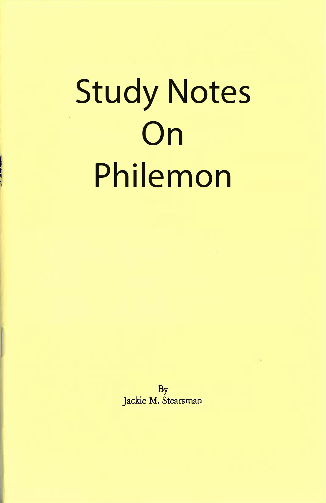 "Featured image for ""Study Notes on Philemon"""