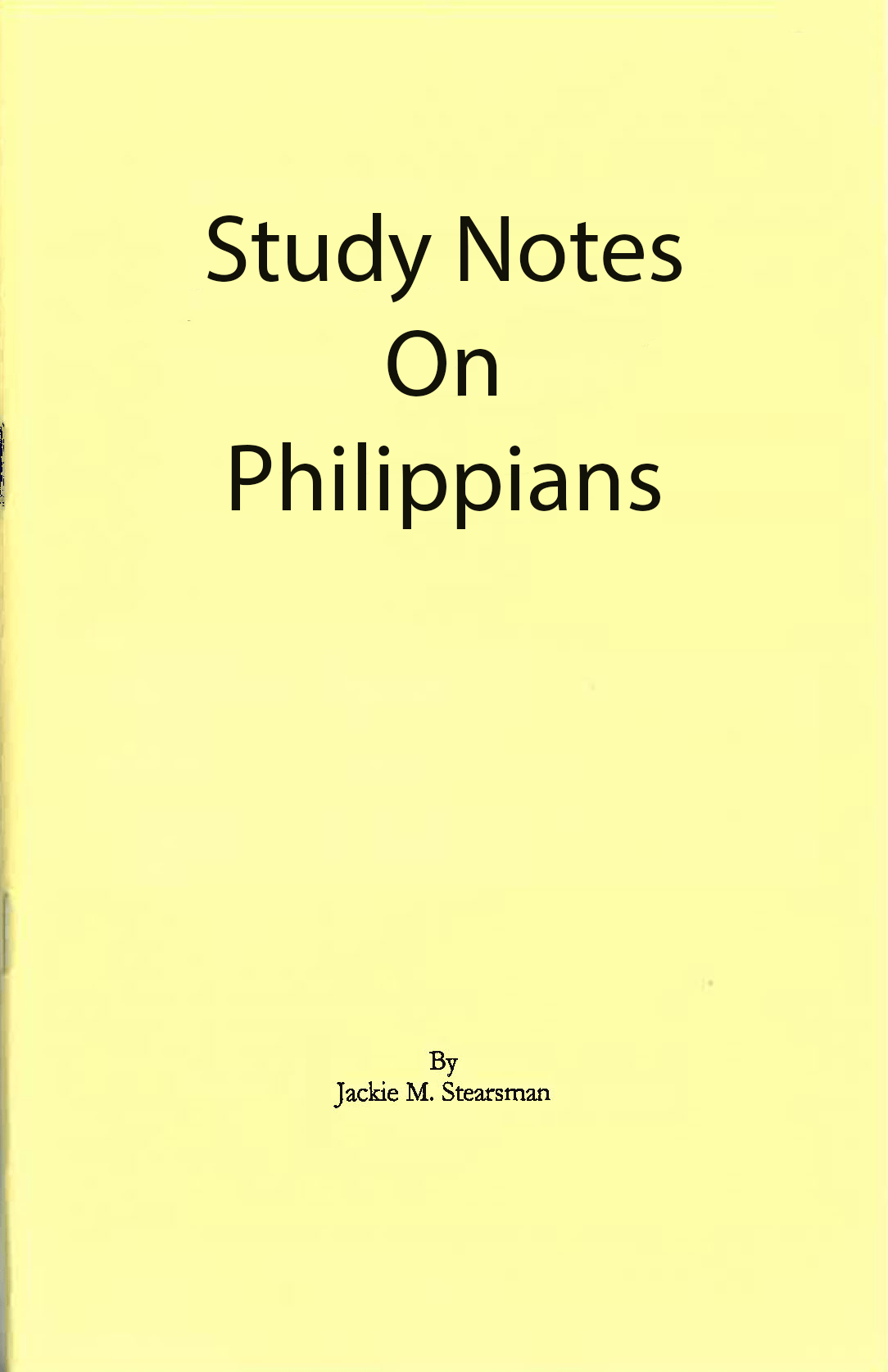 "Featured image for ""Study Notes on Philippians"""