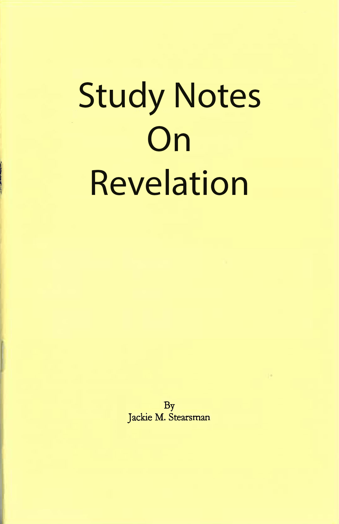 """Featured image for """"Study Notes on Revelation"""""""