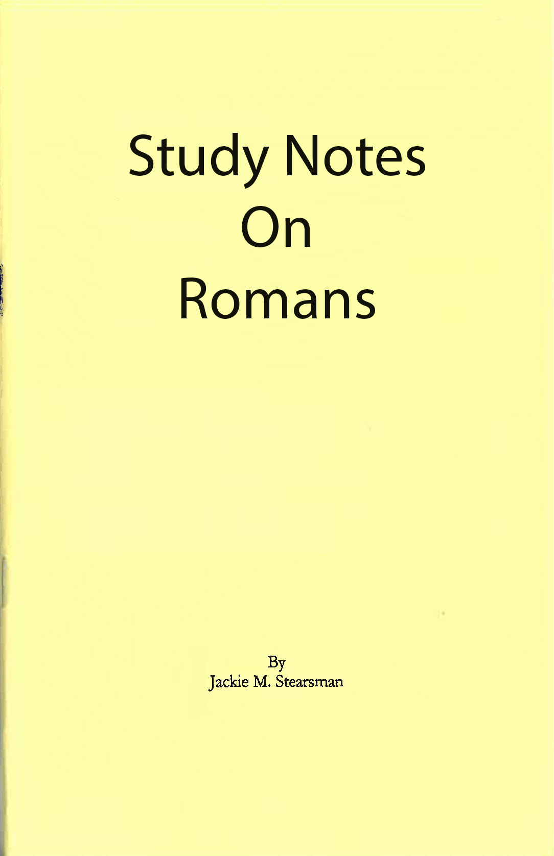 "Featured image for ""Study Notes on Romans"""