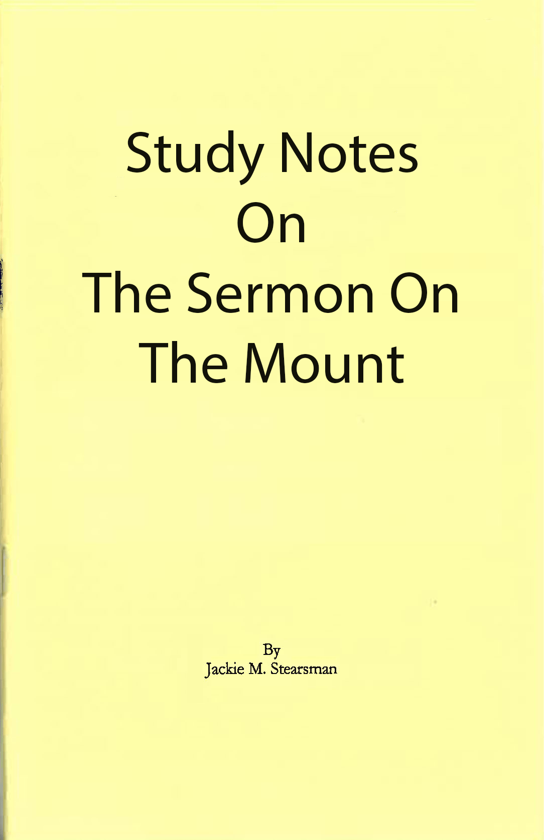 "Featured image for ""Study Notes on Sermon on the Mount"""