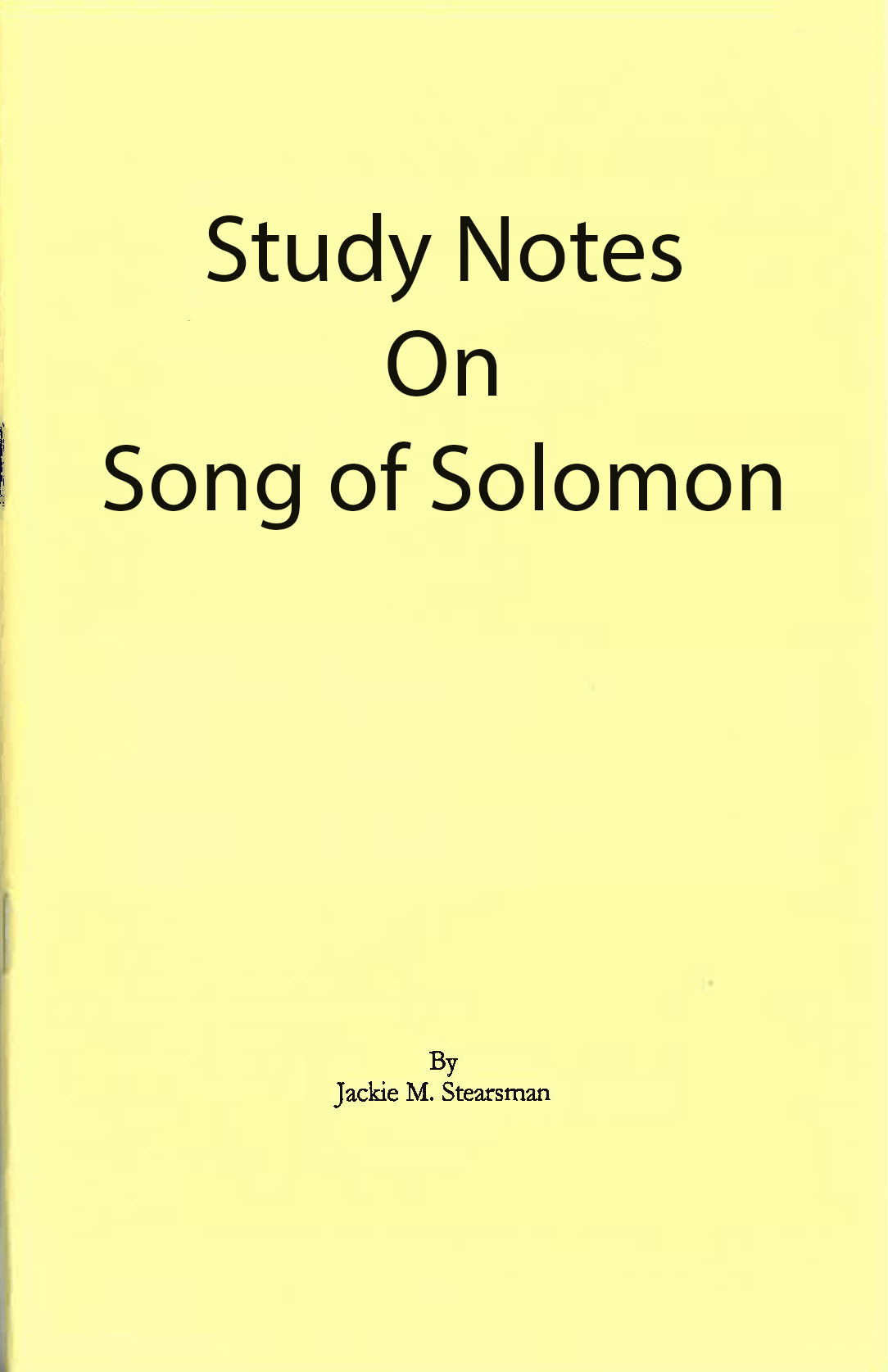 "Featured image for ""Study Notes on Song of Solomon"""