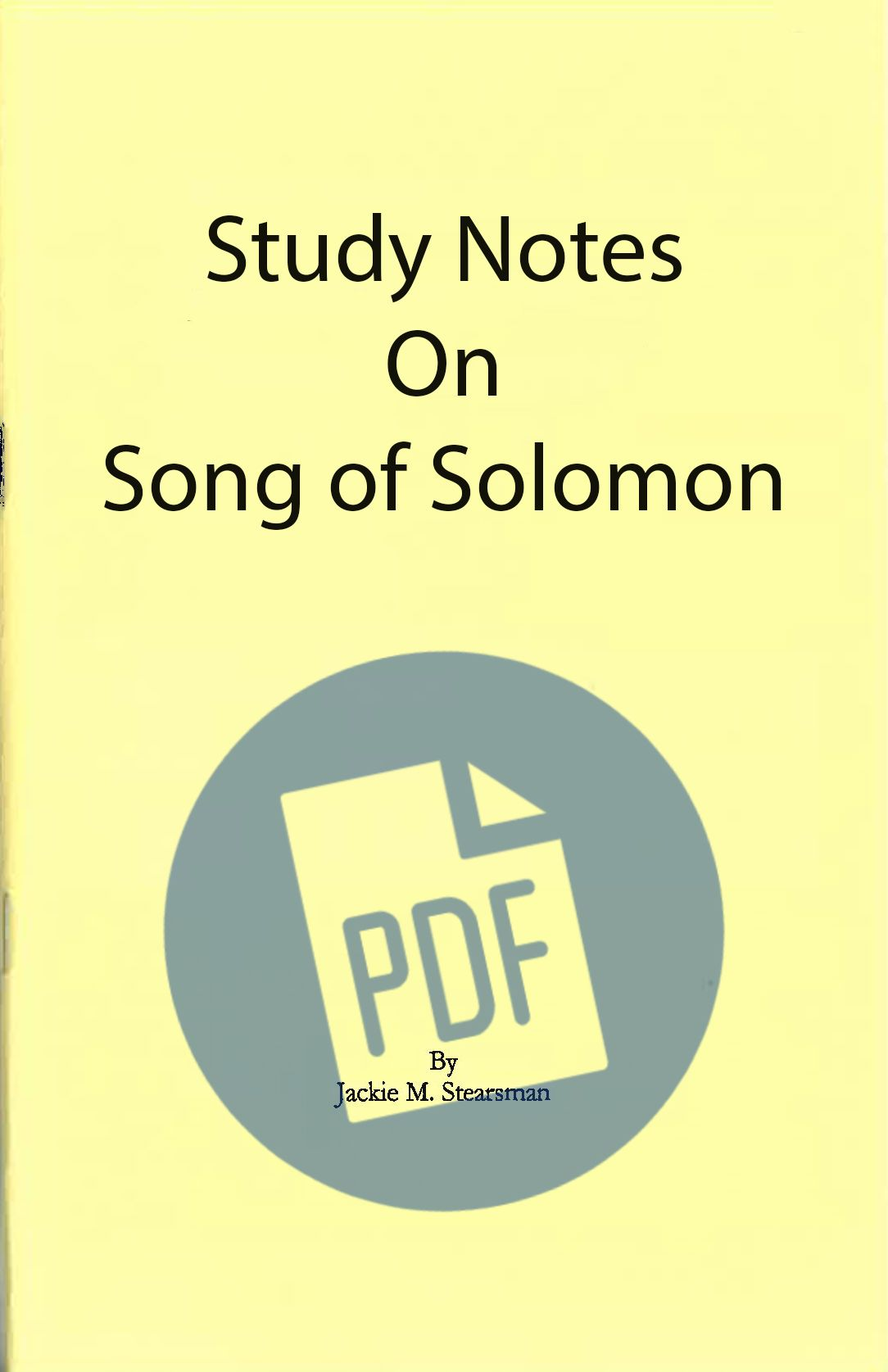 "Featured image for ""Study Notes on Song of Solomon – PDF"""